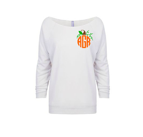 Pumpkin Monogram French Terry Raglan