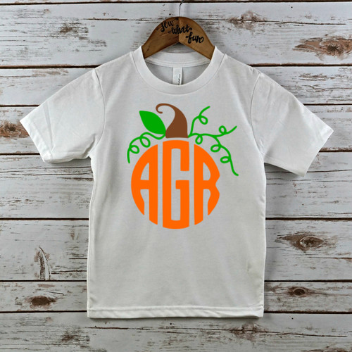 Pumpkin Monogram T Shirt