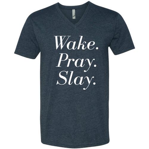Wake, Pray, Slay V Neck