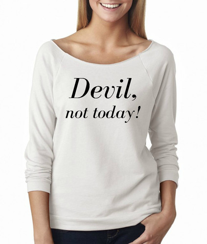 Devil, not today! French Terry Raglan