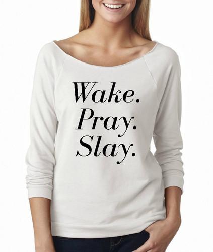 Wake, Pray, Slay French Terry Raglan