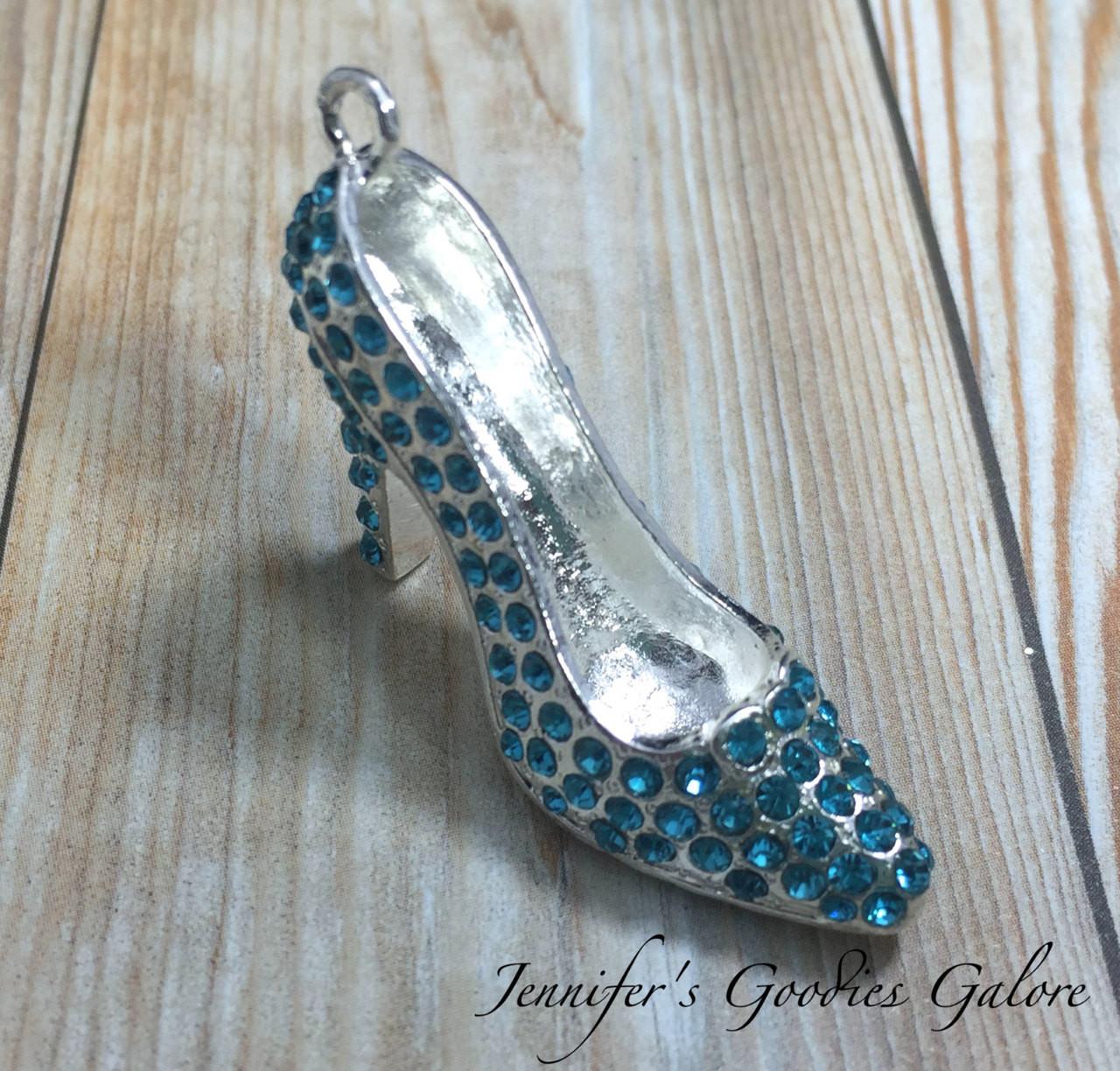 43mm turquoise shoe pendant cinderella pendant glass slipper 43mm turquoise shoe pendant cinderella pendant glass slipper rhinestone pendant chunky aloadofball Gallery