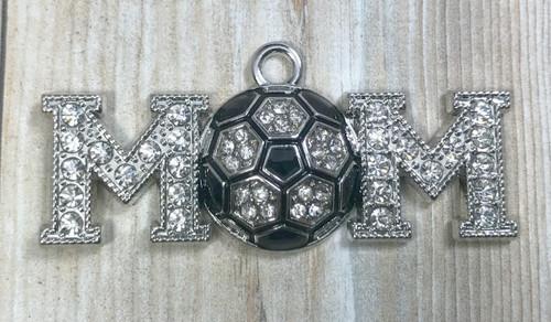 Wholesale pendants sports pendants page 1 jennifers goodies 2249mm soccer mom pendant rhinestone pendant sports pendant 501 aloadofball Image collections