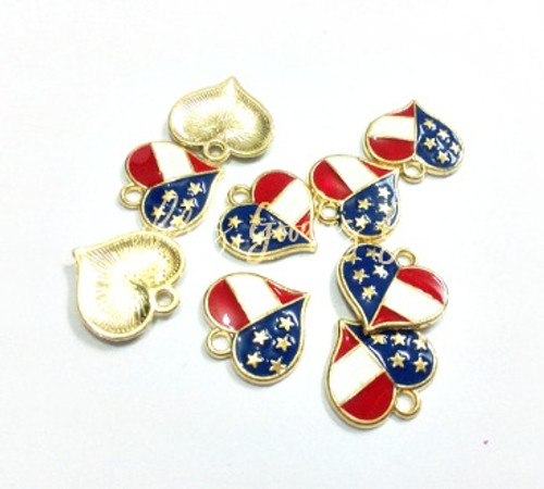 16mm heart charms july 4th charms american flag charm gold flag 16mm heart charms july 4th charms american flag charm gold flag aloadofball Images