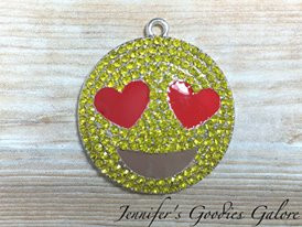 36mm smiley face pendant heart eyes love emoticon rhinestone 36mm smiley face pendant heart eyes love emoticon rhinestone pendant emoji aloadofball