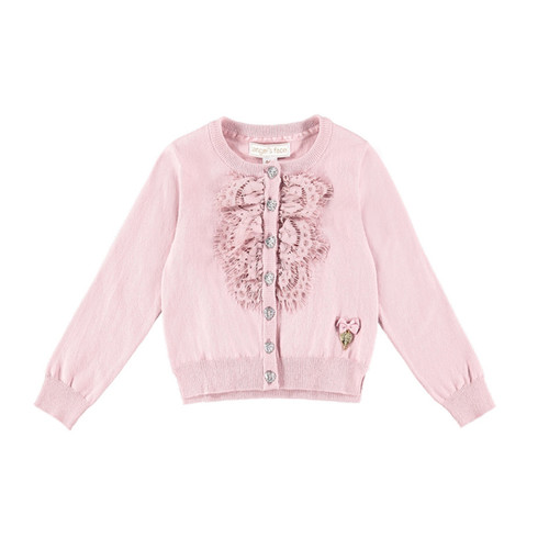 Angel's Face | Bib Lace Cardigan | Pink
