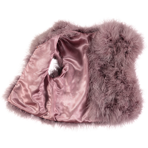 Angel's Face | Marabou Feather Jacket | Heather