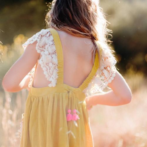 LOUISE MISHA | SS18 | DRESS AKRITI | SAFRAN