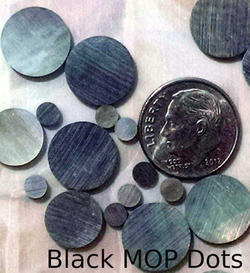 Black Mother of Pearl Inlay Dots