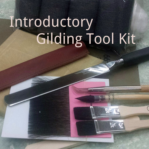 Basic gilder's tools for water or oil gilding.