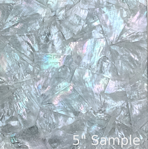 Natural Mother of Pearl Sheet 5 3/8 Inch by 9.5 Inch White MOP Random