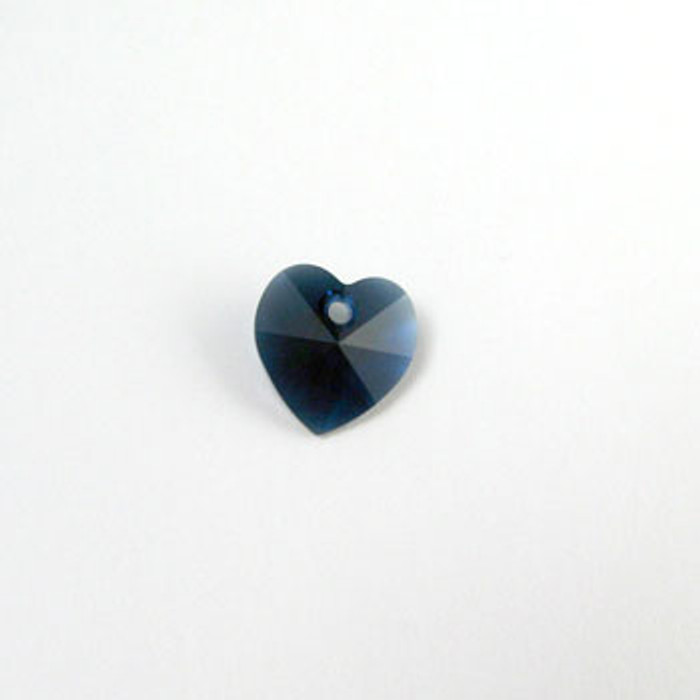6202 - Swarovski Heart Pendant 10mm, Indigo Blue