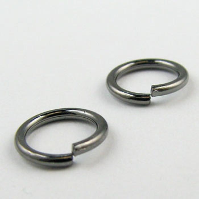 8mm Open Jump Ring, Gunmetal Plated (pkg of 100)