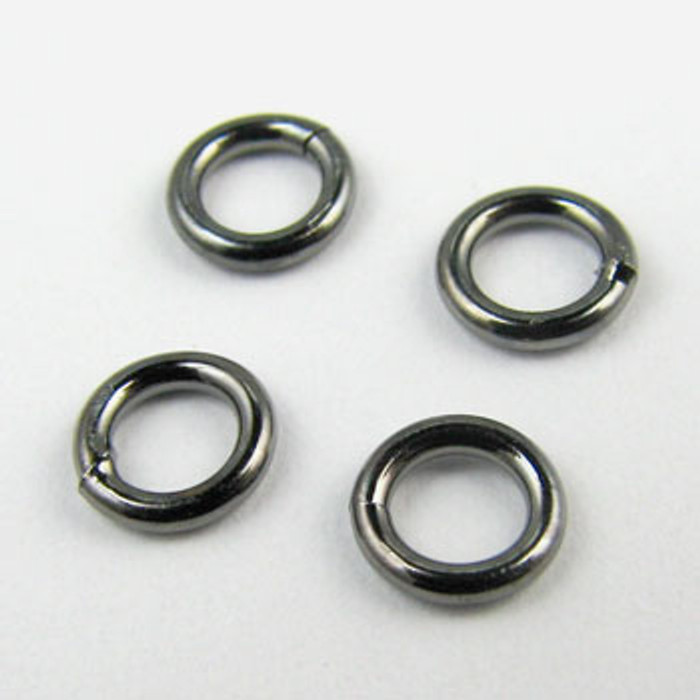 4mm Closed Jump Ring, Gunmetal Plated (pkg of 50)