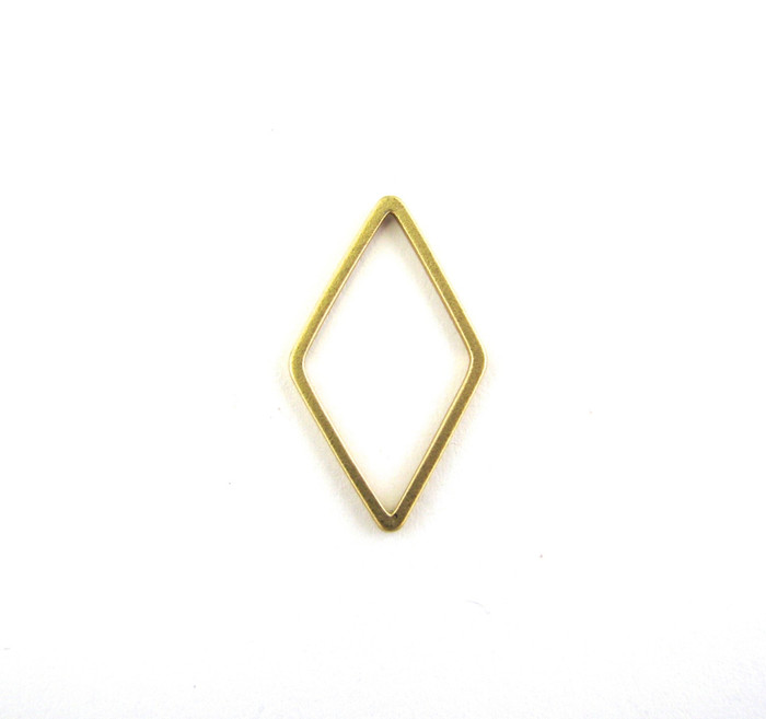 Satin Hamilton Gold 23mm x 13mm Triangular Bauble. Also Used As Pendant or Charm (Sold by the Piece)