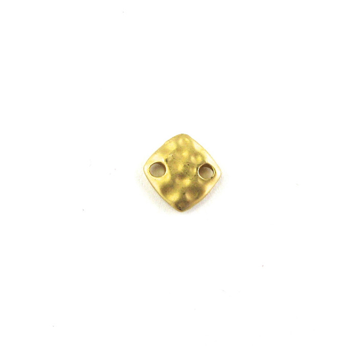 Satin Hamilton Gold 9mm Small Square Connector (Sold by the Piece)