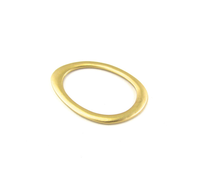 Satin Hamilton Gold 40mm x 29mm Flattened Oval Designer Ring (Sold by the Piece)