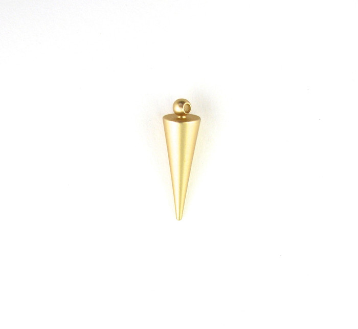 Satin Hamilton Gold 20mm Spike Charm. Also used as Drop or Pendant (Sold by the Piece)