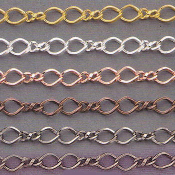 CH1106-AS - 5mm Chain, Electroplated (Antique Silver)  (Discontinued Limited Stock Available)