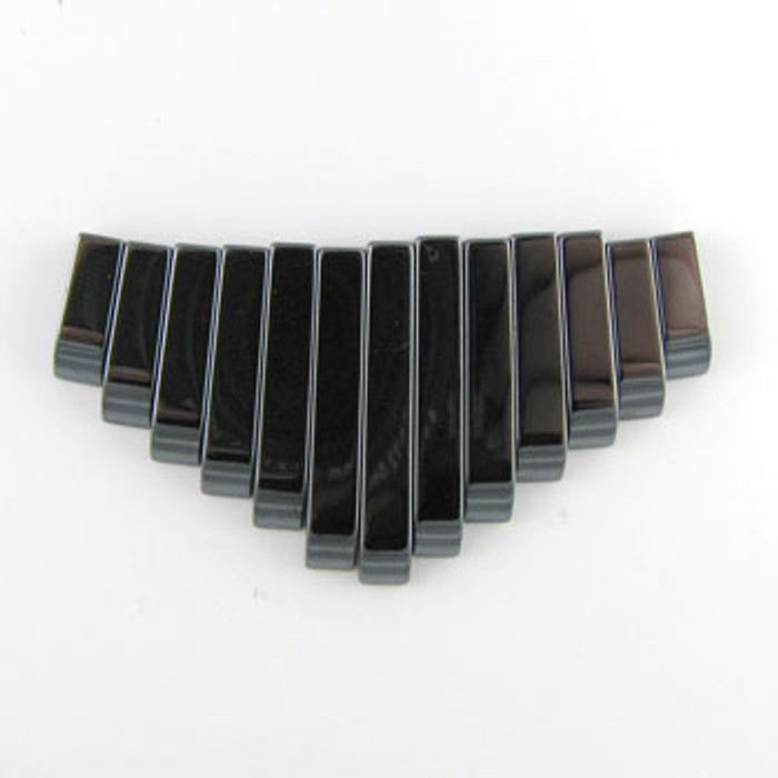 CL0003 - Hematite Semi-Precious Stone Collar (13 pieces)