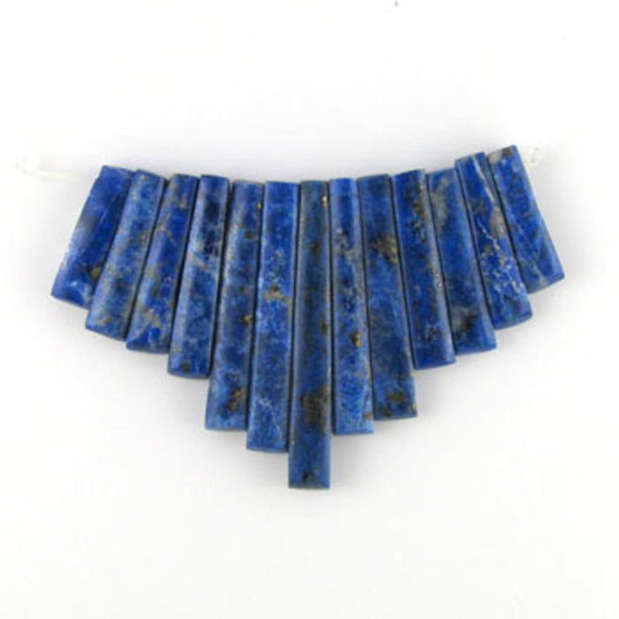 CL0020 - Lapis Lazuli Semi-Precious Stone Collar (13 pieces)