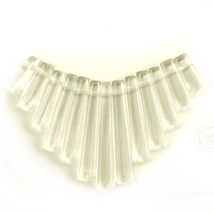 CL0036 - Crystal Quartz Semi-Precious Stone Collar (13 pieces)