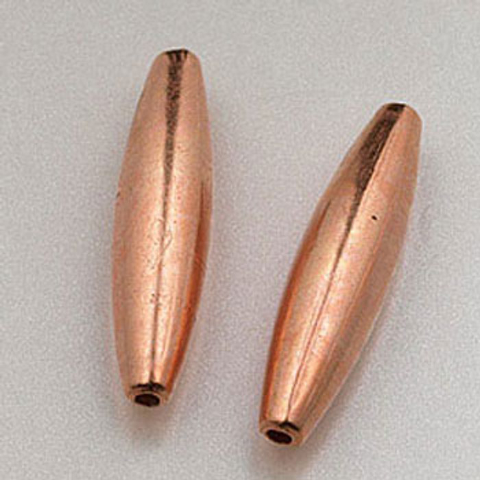 COP0010 - 5x19mm Melon Beads, Solid Copper (pkg of 25)