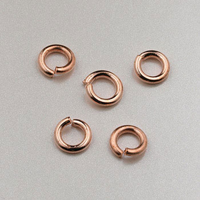 COP0019 - 4mm Open Jump Ring, Copper Plated (pkg of 100)