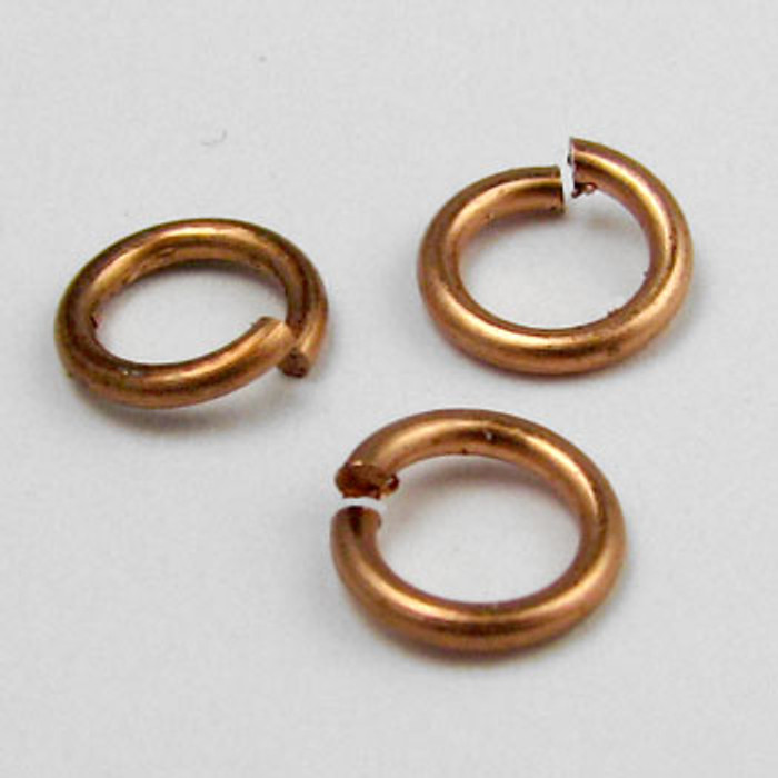 COP0020 - 6mm Open Jump Ring, Copper Plated (pkg of 100)