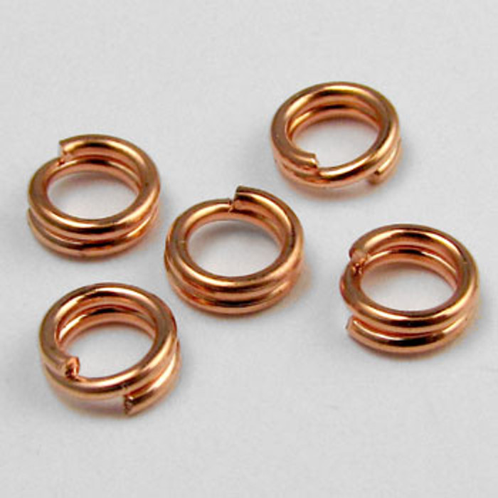 COP0023 - 5mm Split Ring, Copper Plated (pkg of 50)