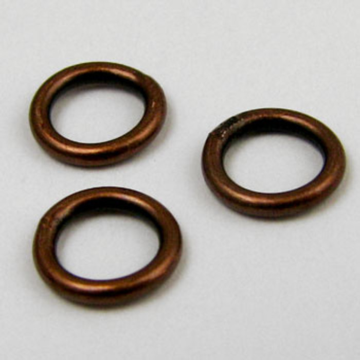 6mm Closed Jump Ring, Antique Copper Plated (pkg of 50)