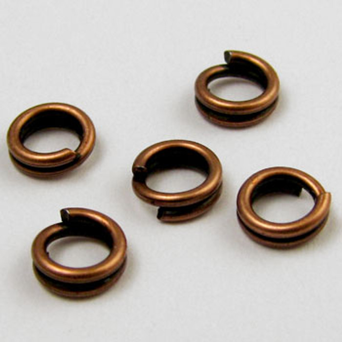 5mm Split Ring, Antique Copper Plated (pkg of 50)