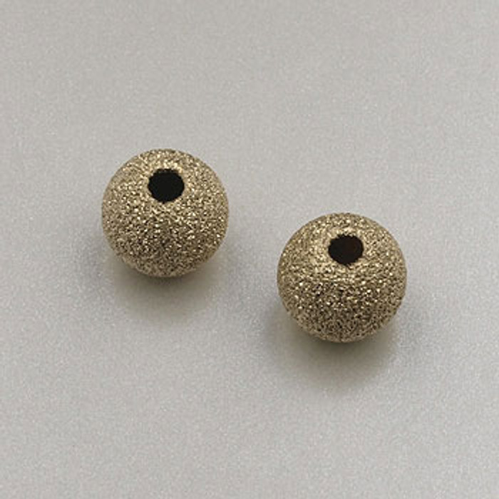 GF0031 - 6mm Round ''Stardust'' Bead, Gold-Fill (pkg of 5)