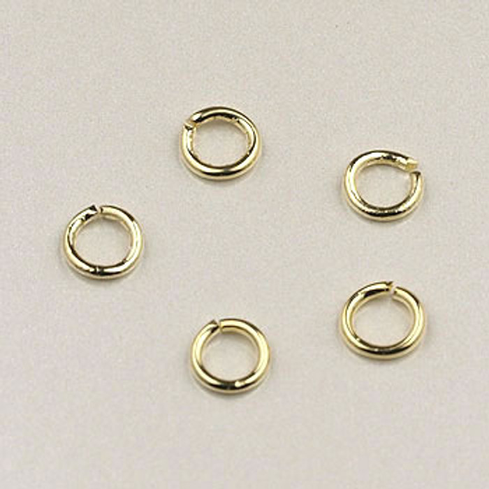 GF0043 - 4mm Jump Rings, Gold-Fill (pkg of 25)