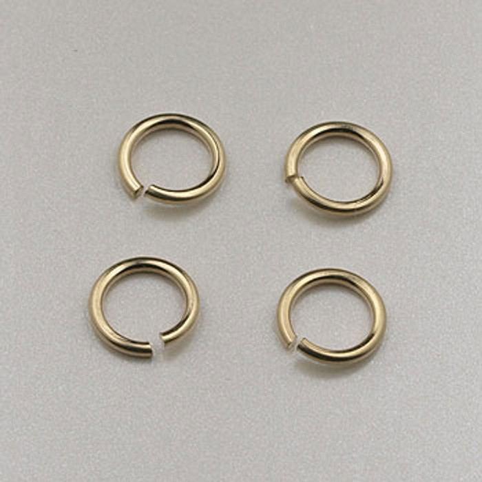 GF0044 - 5mm Jump Rings, Gold-Fill (pkg of  25)