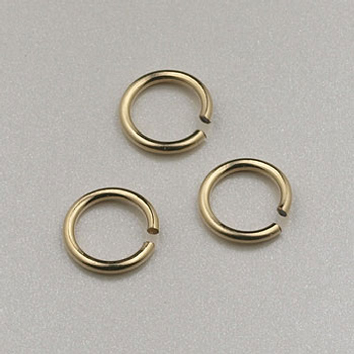 GF0045 - 6mm Jump Rings, Gold-Fill (pkg of 25)