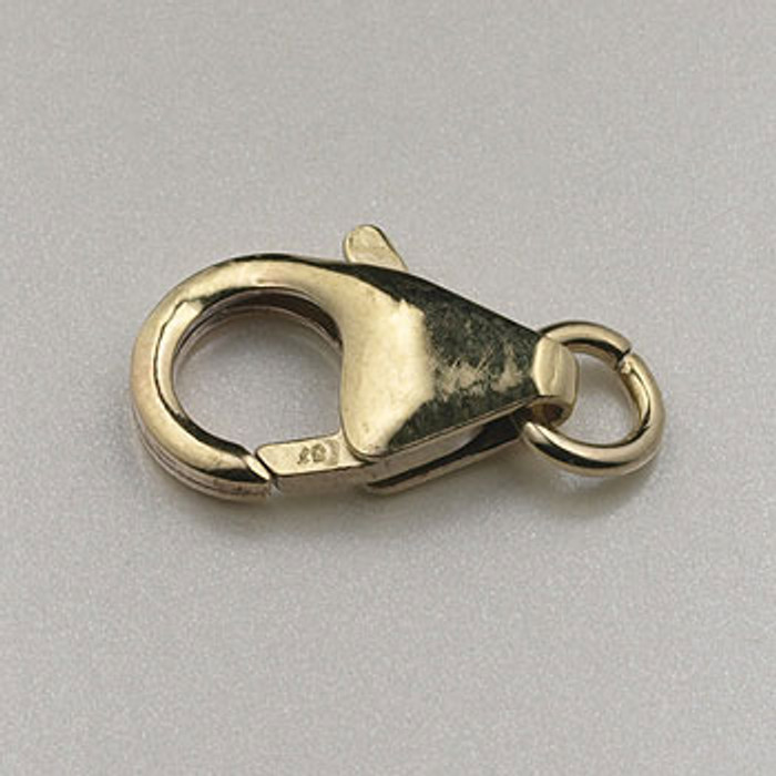 GF0065 - 14mm Pear Shape Lobster Claw Clasp, Gold-Fill (each)