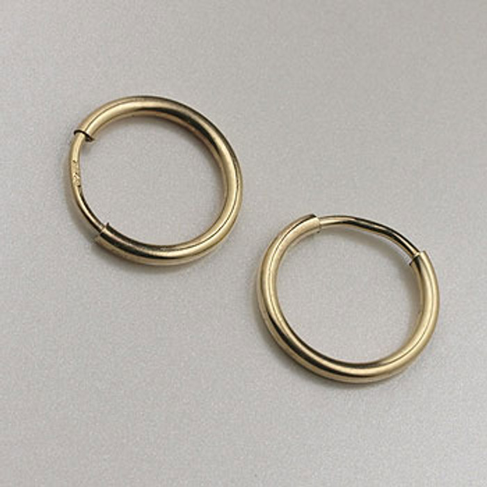 GF0085 - 12mm Endless Hoop Earrings, Gold-Fill (pair)