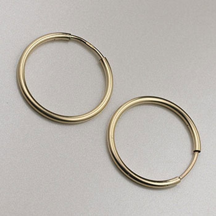 GF0086 - 16mm Endless Hoop Earrings, Gold-Fill (pair)