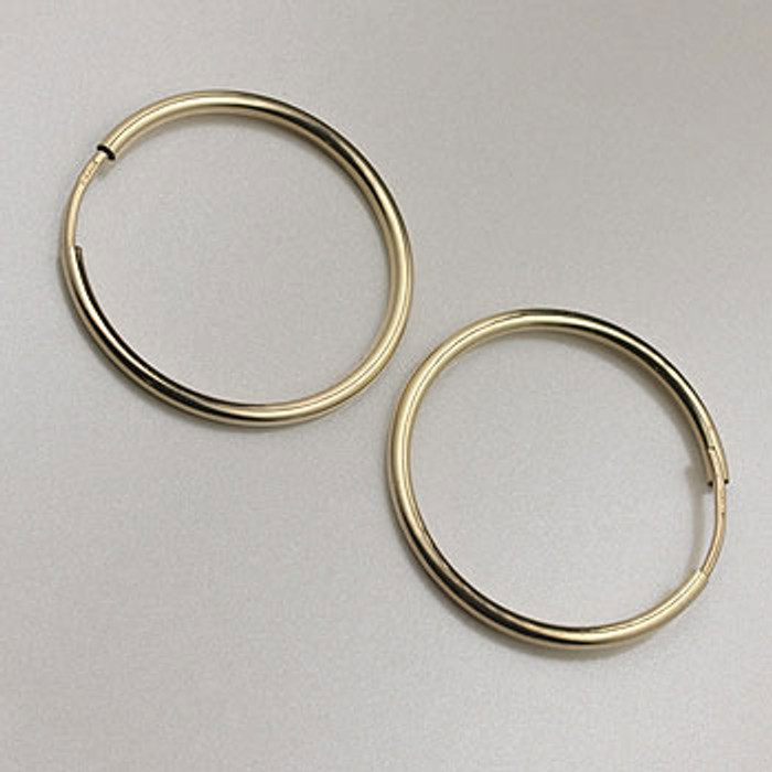 GF0087 - 20mm Endless Hoop Earrings, Gold-Fill (pair)