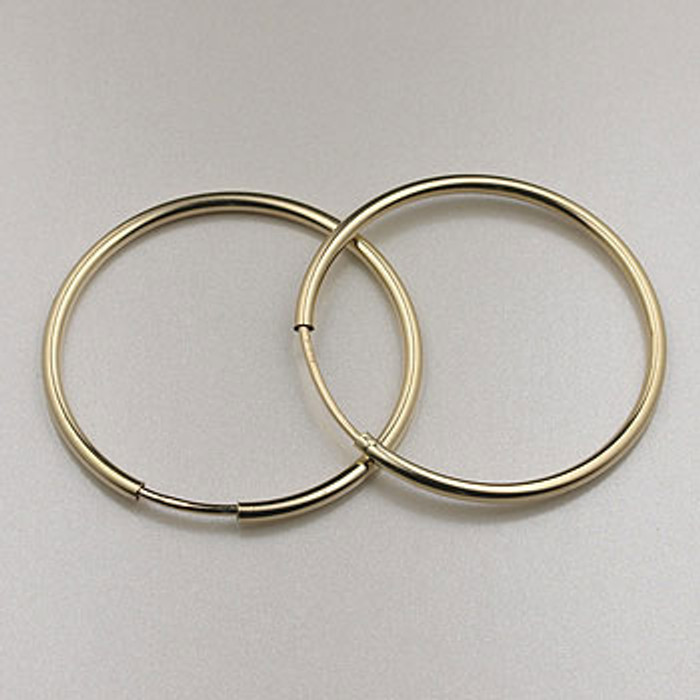 GF0088 - 24mm Endless Hoop Earrings, Gold-Fill (pair)