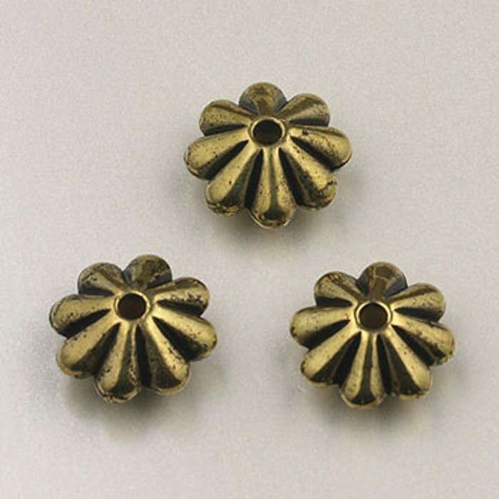 GP0009 - 9mm Daisy, Antique Oxidized Gold Plate (pkg of 75)