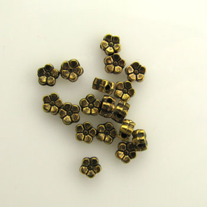 GP0015 - 5mm Flat Daisy, Antique Oxidized Gold Plate (pkg of 100)