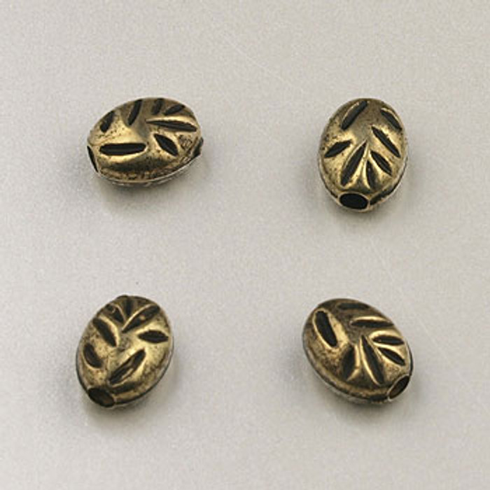 GP0019 - 4x6mm Biwa, Antique Oxidized Gold Plate (pkg of 75)