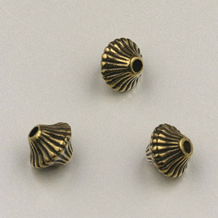 GP0021 - 6mm Mushroom, Antique Oxidized Gold Plate (pkg of 200)