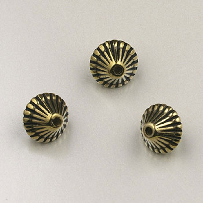GP0022 - 9mm Mushroom, Antique Oxidized Gold Plate (pkg of 100)