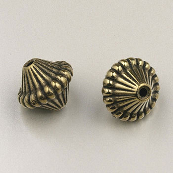 GP0023 - 14mm Mushroom, Antique Oxidized Gold Plate (pkg of 25)