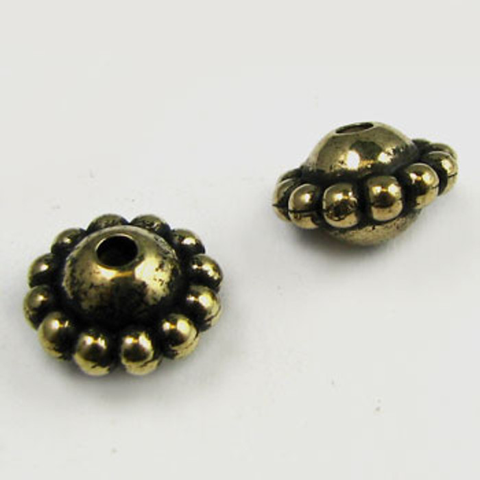 GP0024 - 9mm Saturn, Antique Oxidized Gold Plate (pkg of 25)