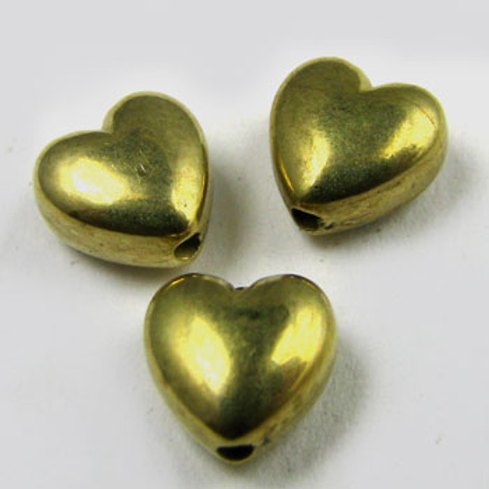 GP0027 - 6mm Heart, Gold Plate (pkg of 100)