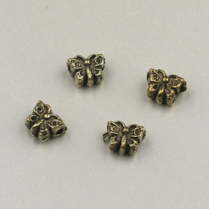 GP0032 - 4mm Butterfly, Antique Oxidized Gold Plate (pkg of 100)